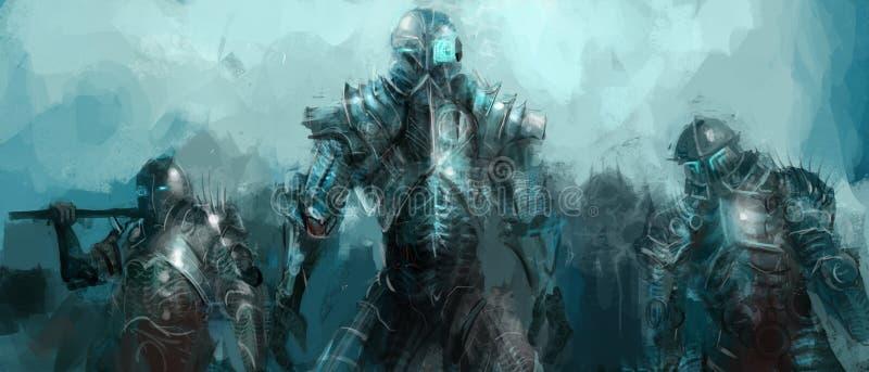 Cybernetikarmé royaltyfri illustrationer