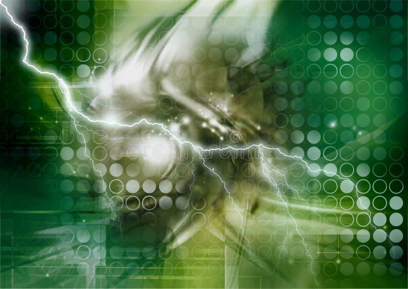 cybernetikstorm vektor illustrationer