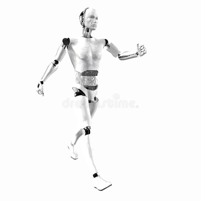 cybernetyczna android inteligencja ilustracja wektor