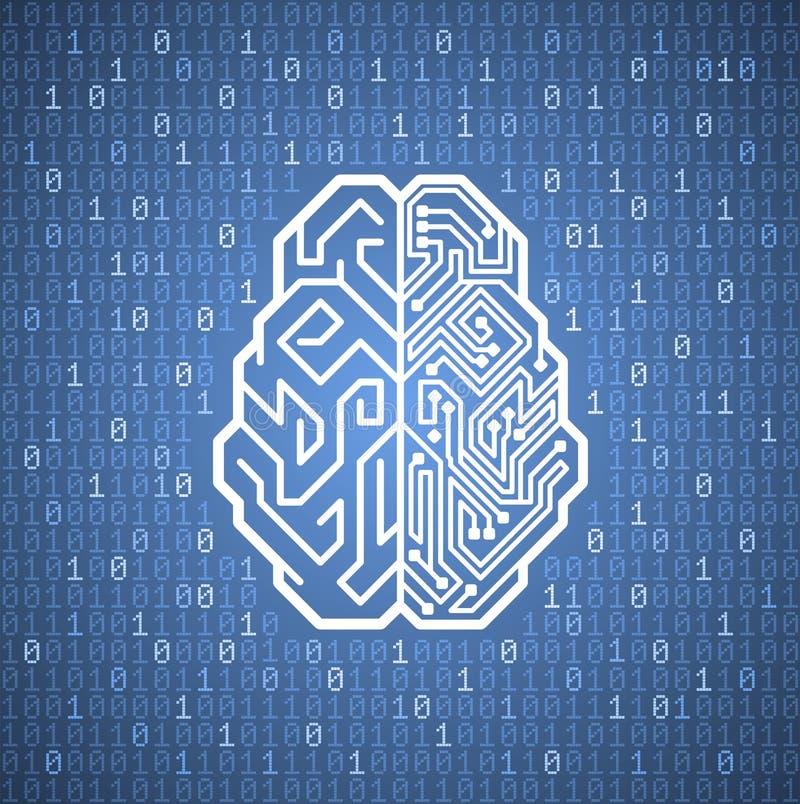 Cybernetyczny mózg ilustracja wektor