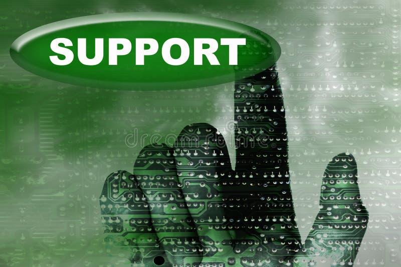 Cybernetyka wręczają i zapinają z słowem poparcie obrazy royalty free