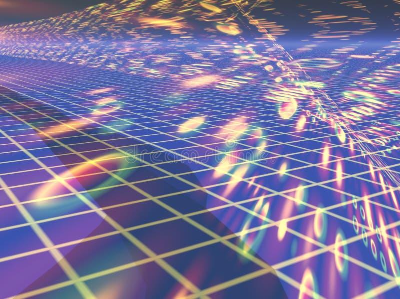 cyberprzestrzeni, ilustracja wektor