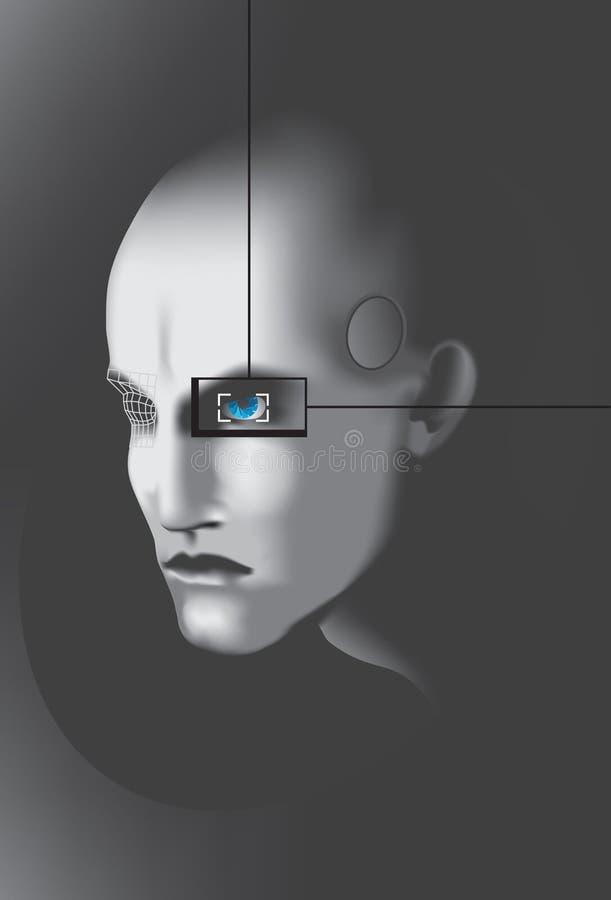 cyberprzestrzeni, royalty ilustracja