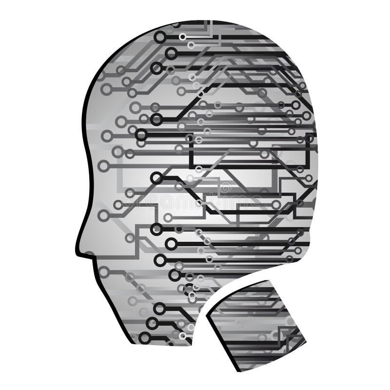 cyberpunk głowa royalty ilustracja