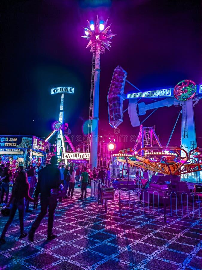 Cyberpunk park royalty free stock photography