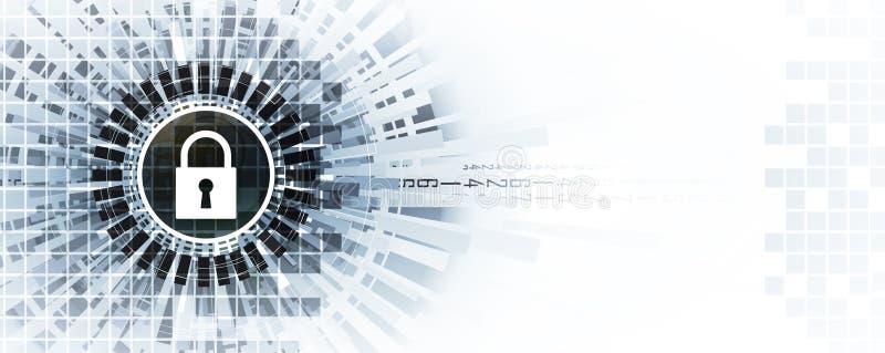 Cybersäkerhet och informations- eller nätverksskydd Teknisk framtid royaltyfri illustrationer