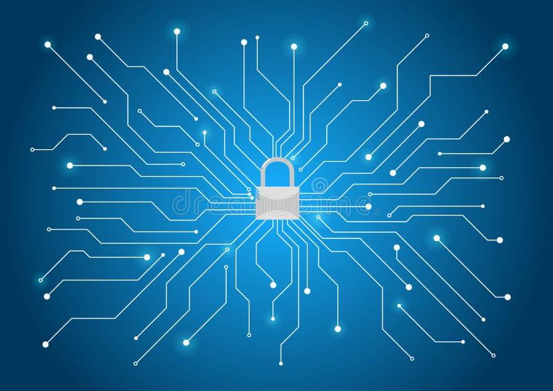 Cybersäkerhetsbakgrund royaltyfri illustrationer