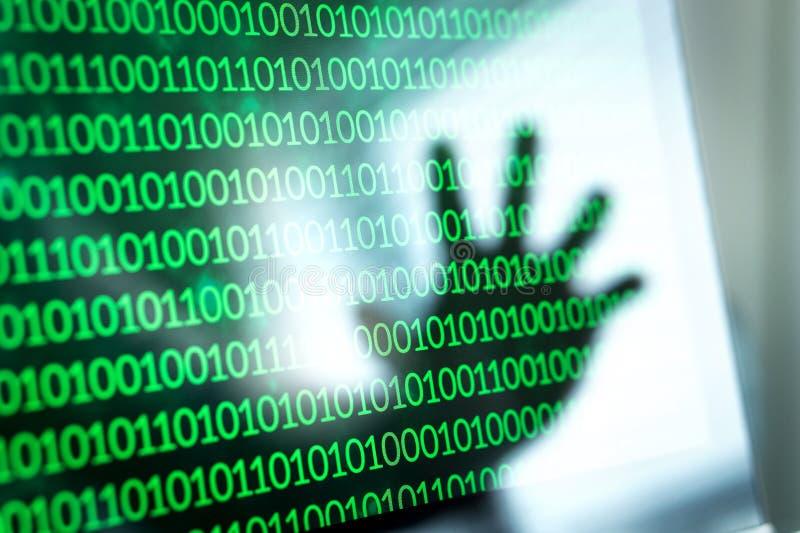 Cybersäkerhetshot och attackbegrepp royaltyfri foto