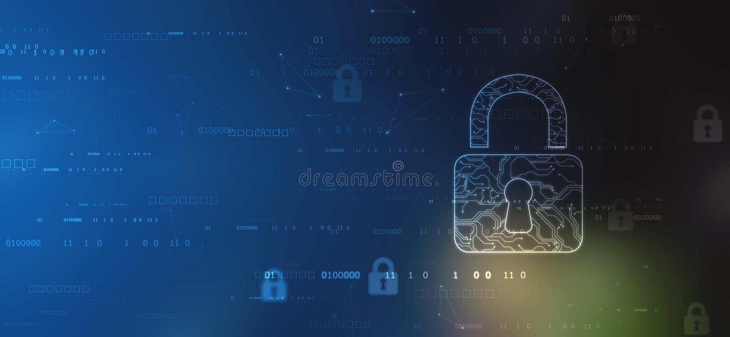 Cybers?kerhet och informations- eller n?tverksskydd Framtida cyberteknologi stock illustrationer