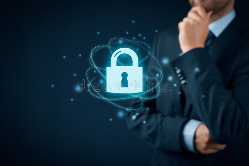 Cybersecurity互联网概念 免版税库存照片