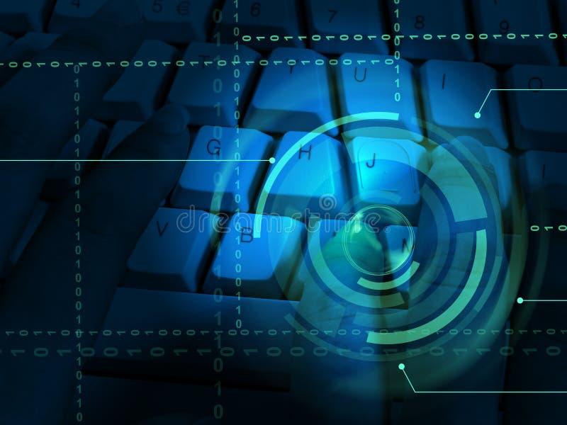 Cybersecurity企业网络安全经理3d例证 库存例证