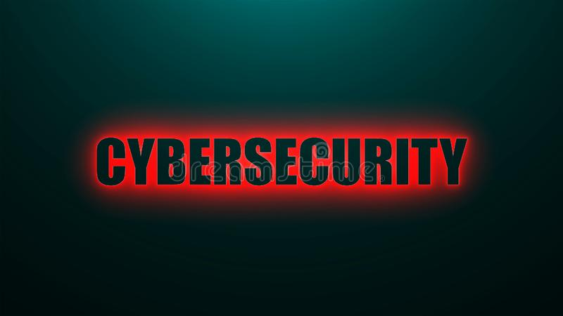 Cybersecurity信件在与顶灯, 3d的背景发短信回报背景,引起为事务的计算机 皇族释放例证