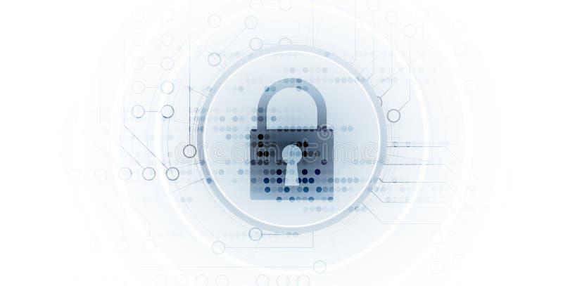 Cybersecurity和信息或网络保护 将来的技术 皇族释放例证
