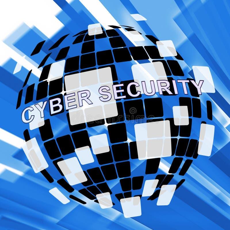 Cybersecurity威胁网络罪行风险3d例证 库存例证
