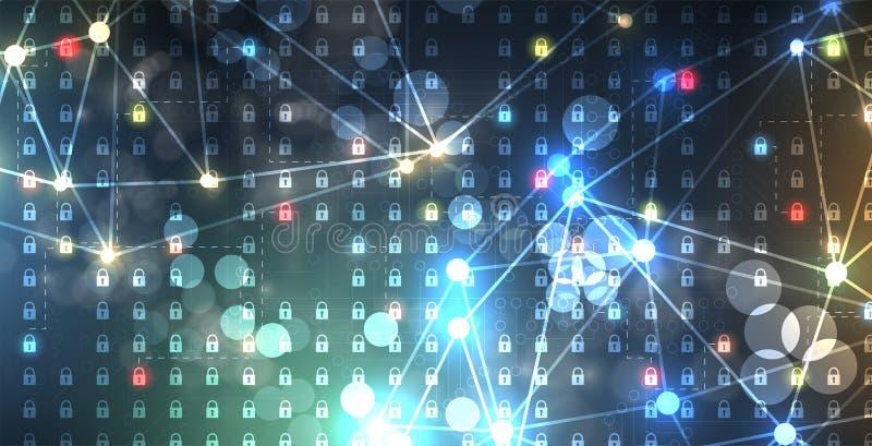 Cybersecurity και πληροφορίες ή προστασία δικτύων Μελλοντικές υπηρεσίες Ιστού τεχνολογίας για την επιχείρηση και το πρόγραμμα Δια ελεύθερη απεικόνιση δικαιώματος