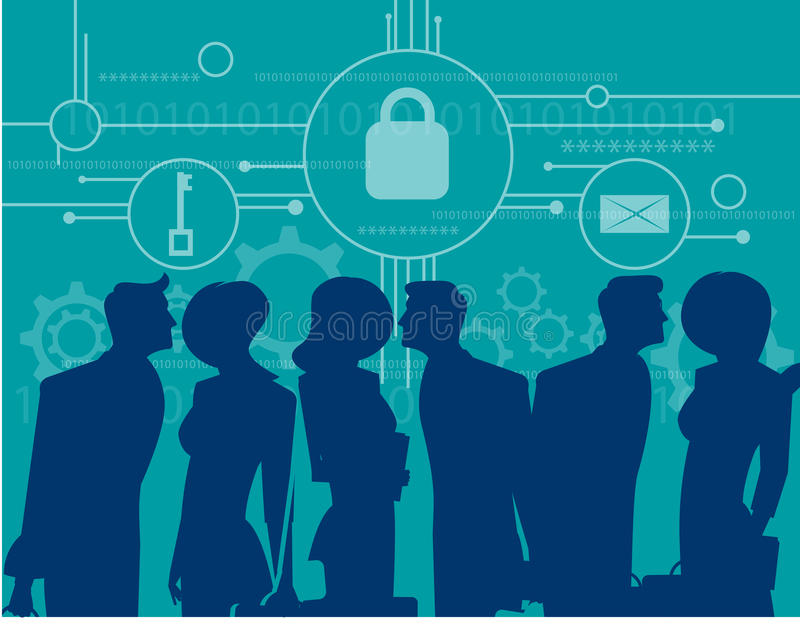 CyberSecurity 业务会议安全 皇族释放例证