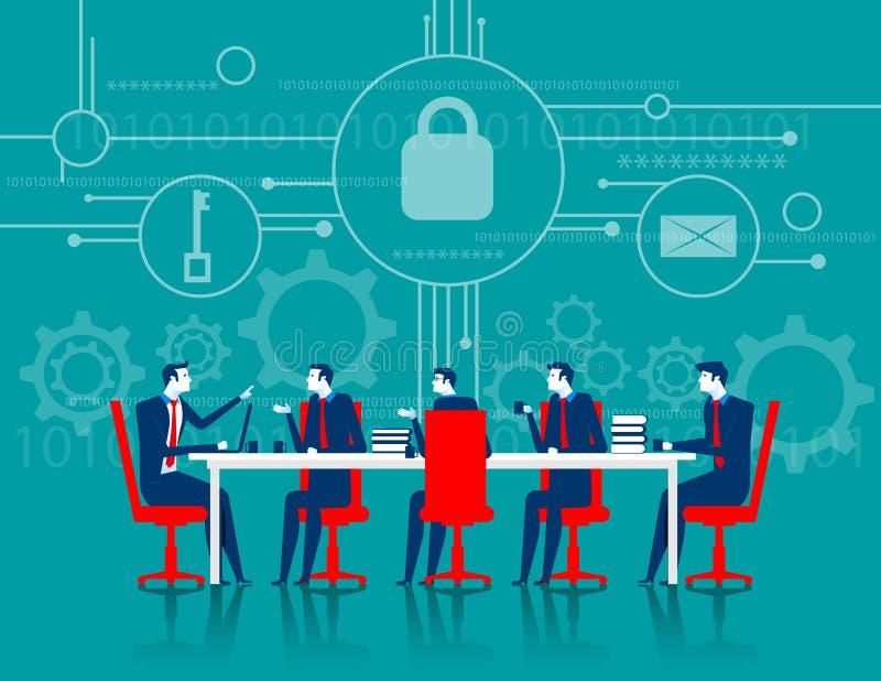CyberSecurity 业务会议安全 向量例证