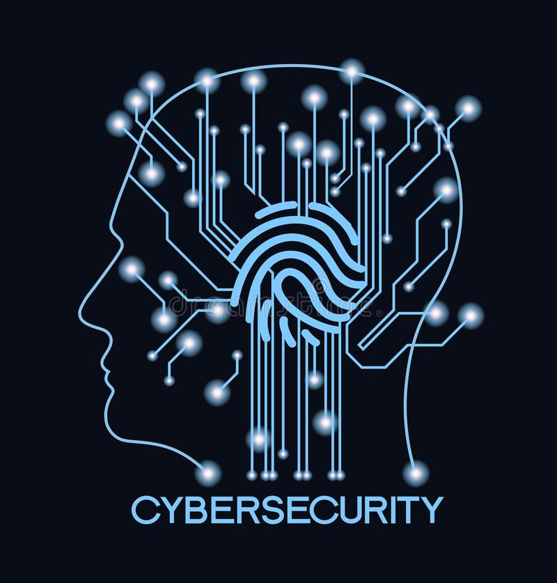 CyberSecurity illustration stock
