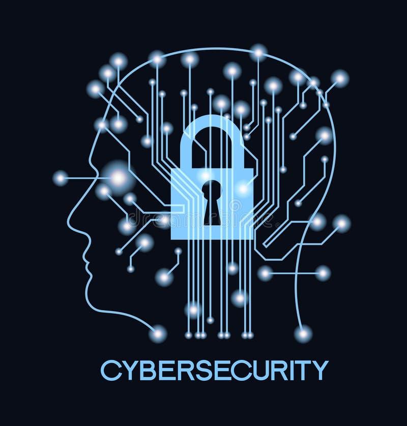 CyberSecurity illustration stock