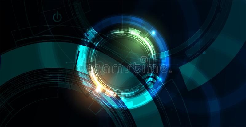 Cybersecurity和信息或网络保护 事务和互联网项目的未来技术网站服务 皇族释放例证