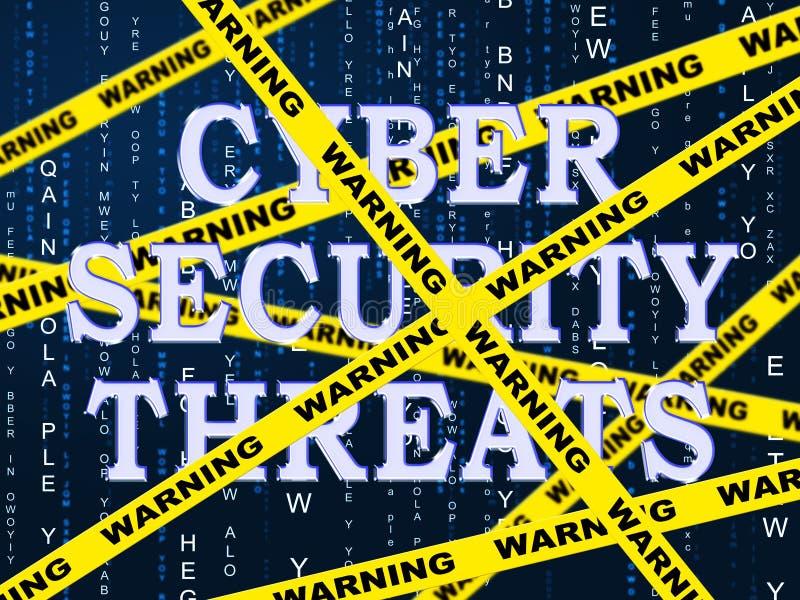Cybersecurity-Drohungen Cyber-Verbrechen-Risiko-2d Illustration stock abbildung