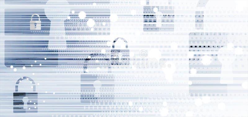Cybersecurity e proteção da informação ou da rede Os serviços de Web futuros da tecnologia para o negócio e o Internet projetam-s