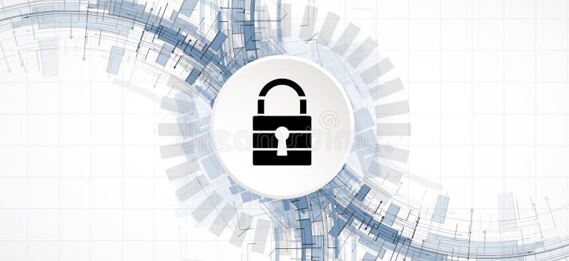 Cybersecurity e proteção da informação ou da rede Tecnologia futura ilustração do vetor