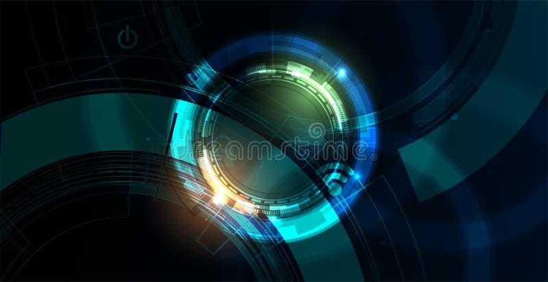 Cybersecurity e prote??o da informa??o ou da rede Os servi?os de Web futuros da tecnologia para o neg?cio e o Internet projetam-s ilustração royalty free