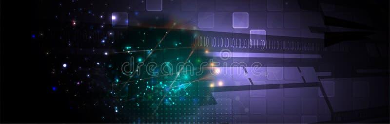 Cybersecurity en informatie of netwerkbescherming De toekomstige diensten van het technologieweb voor zaken en Internet-project royalty-vrije illustratie
