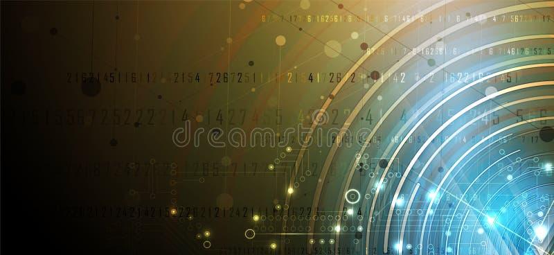 Cybersecurity et protection de l'information ou de réseau Future technologie illustration libre de droits