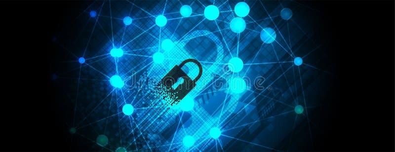 Cybersecurity et protection de l'information ou de réseau Future technologie illustration stock