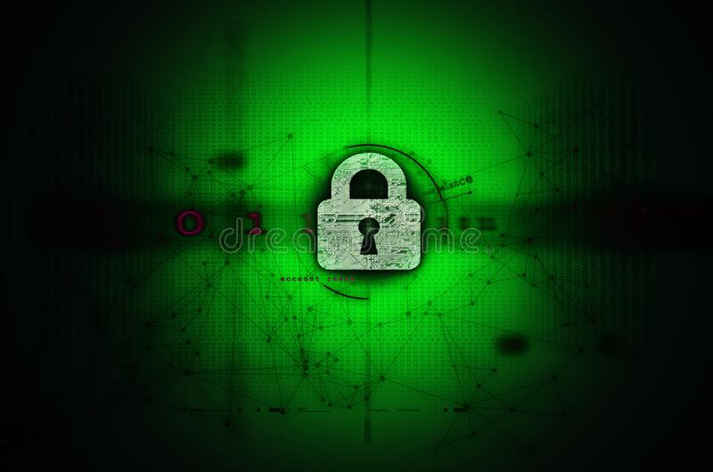 Cybersecurity ilustracji zieleń zdjęcie stock