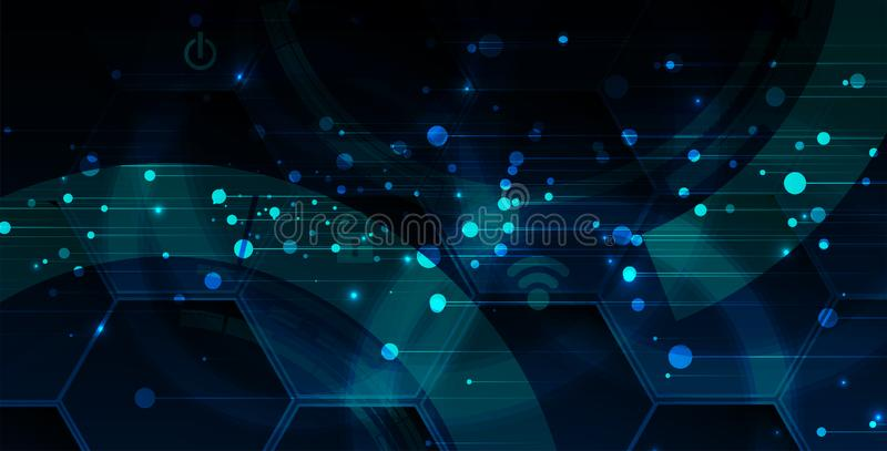 Cybersecurity and information or network protection. Future technology web services for business and internet project. Cybersecurity and information or network stock illustration