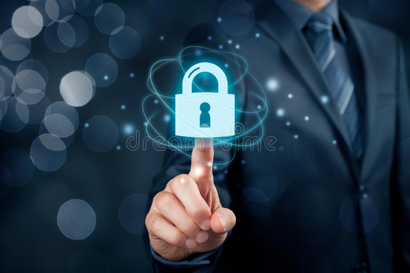Cybersecurity internet concept stock photo