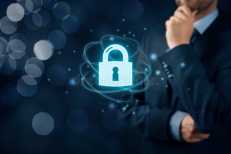 Cybersecurity-Internet-Konzept stockbild
