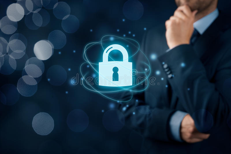 Cybersecurity interneta pojęcie obraz stock