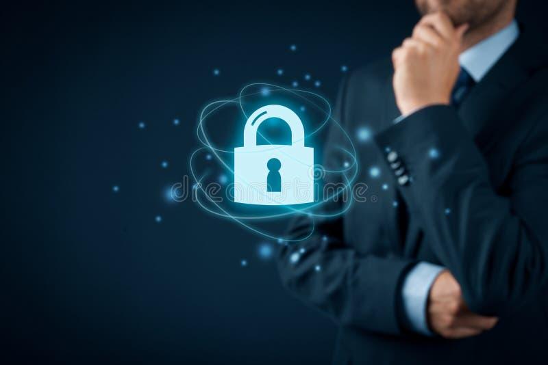 Cybersecurity internetbegrepp royaltyfria foton
