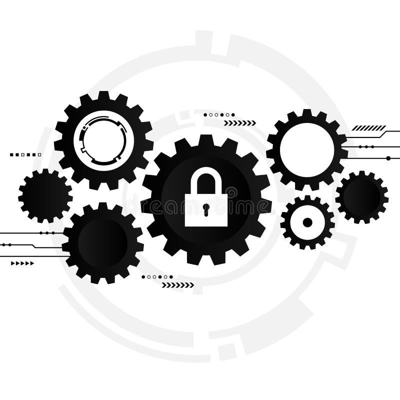 Cybersecurity system, Internetowy ochrony pojęcie ilustracji