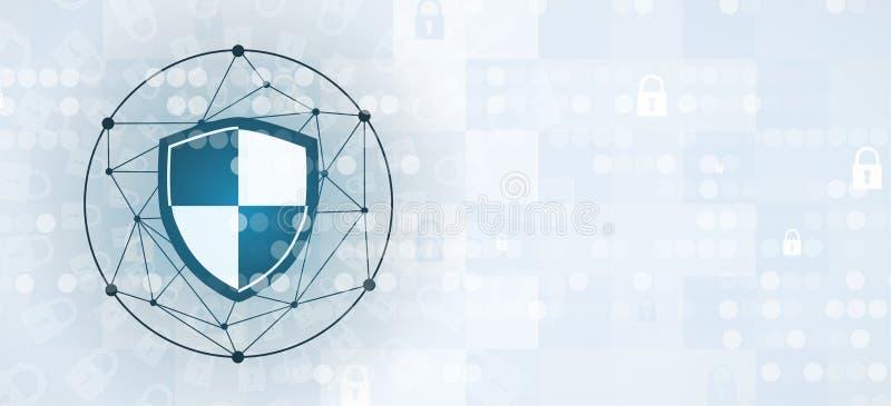 Cybersecurity und Informations- oder Netzschutz Zukünftige Technologie vektor abbildung
