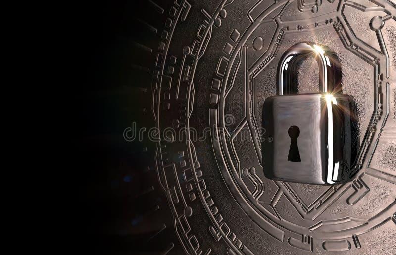 Cybersecurity wizerunek Osiem fotografia royalty free