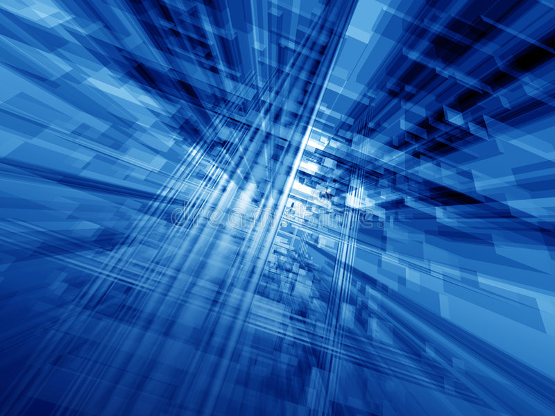 Cyberspace azul stock de ilustración