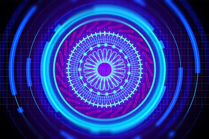 Cyberspace, biometrie en communicatie concept royalty-vrije illustratie