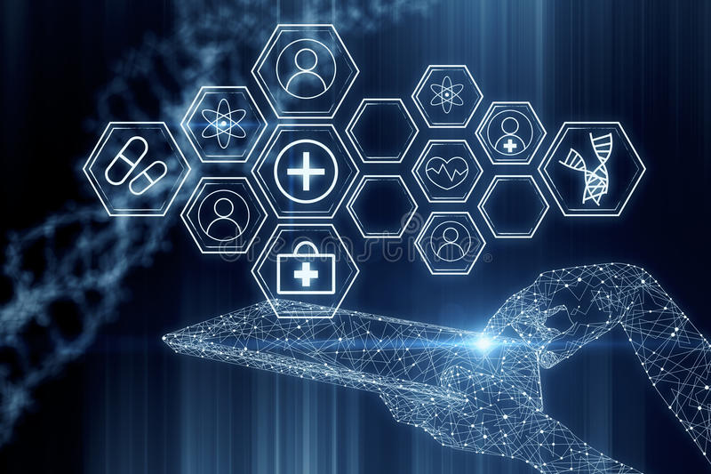 cyberspace concept stock illustratie