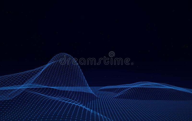 Big Data Digital Lines on Black Background. Cyberspace with digital lines Big Data Digital Lines on Black Background royalty free stock image