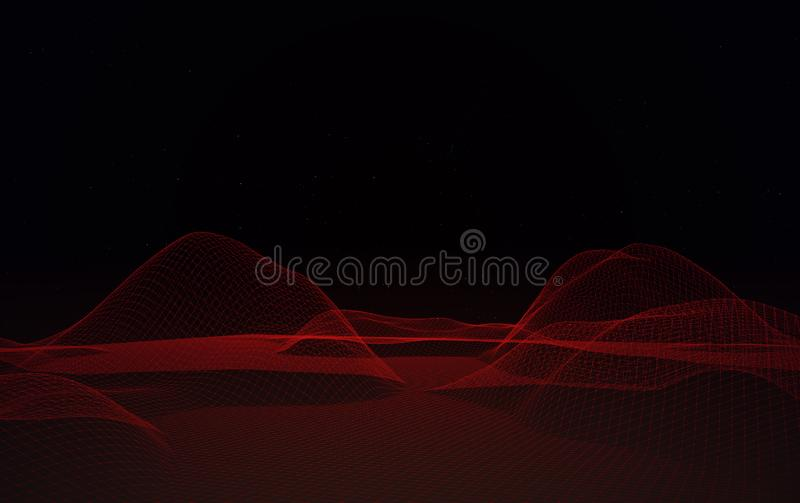 Big Data Digital Lines on Black Background. Cyberspace with digital lines Big Data Digital Lines on Black Background royalty free stock photos