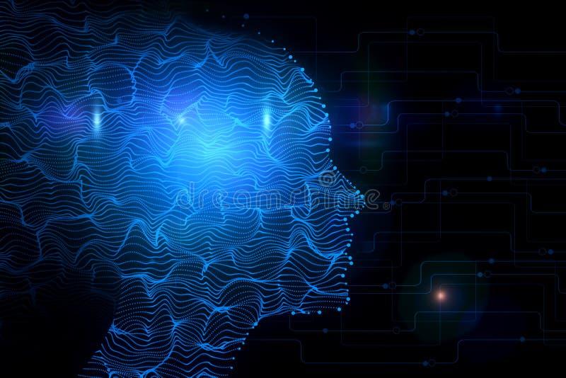 Cyberspace en roboticaconcept royalty-vrije illustratie