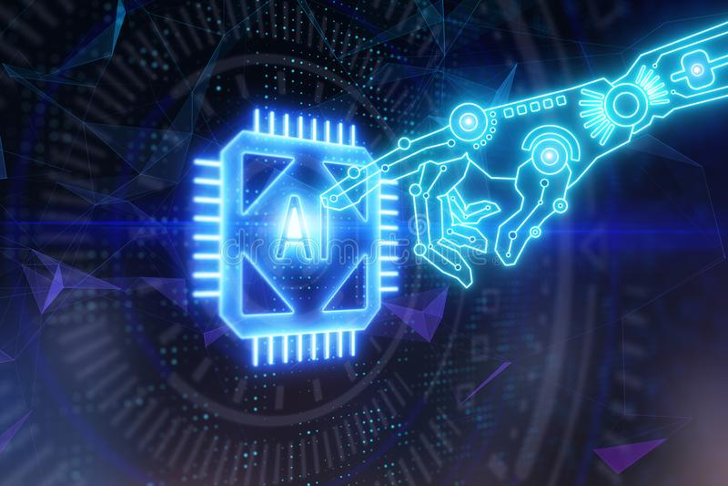 Cyberspace en technologieconcept royalty-vrije illustratie