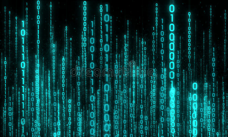 Cyberspace mit dem digitalen Steigen, digitale Stadt