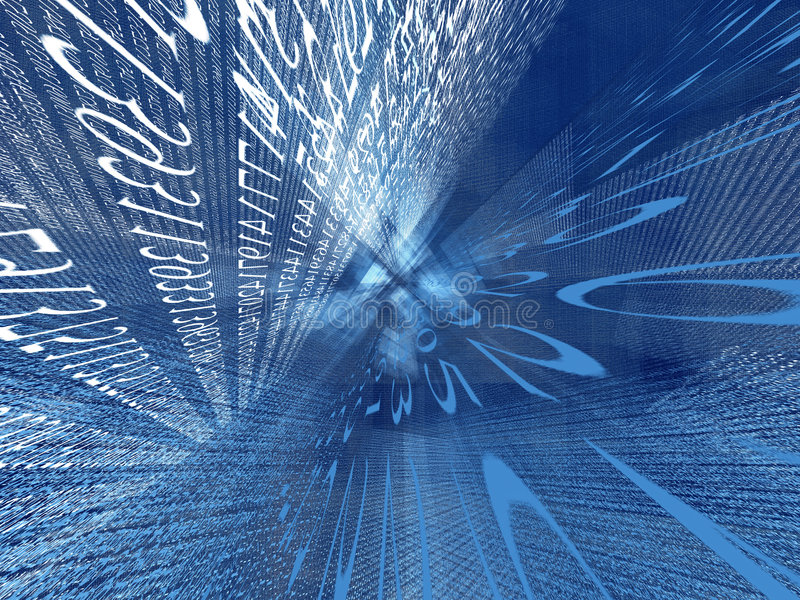 Cyberspace numérico ilustração stock