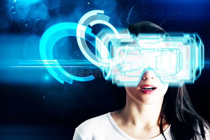 Cyberspace- och sinnesrörelsebegrepp arkivbild